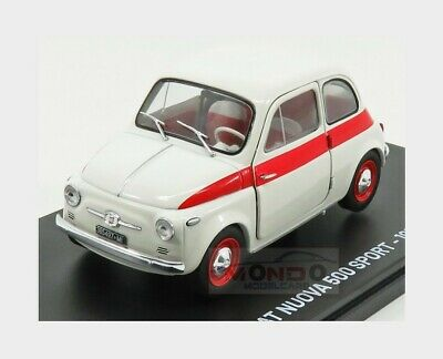 Fiat Nuova 500 Sport 1958 Damage Blister Box White Red EDICOLA 1:24 ABMFA003