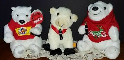 Vintage Coca Cola Plush Lot of 3