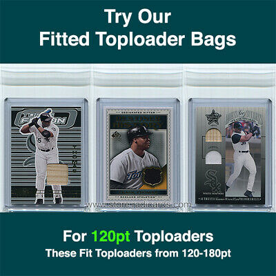 Fitted Bags Top Loader Sleeves for Thick Ultra Pro Toploaders (1000-10pks) 120pt