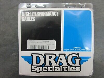 "Drag Specialties Stainless Braid Idle Cruise 41.5"" Cable #0651-0172"