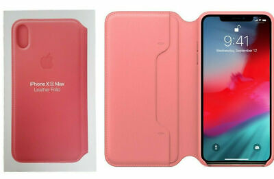 Genuine Apple Leather Folio Cover for Apple iPhone XS Max Peony Pink MRX62ZM/A