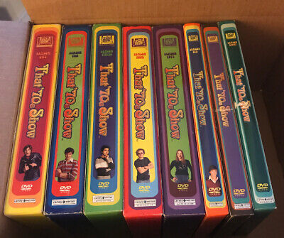 That '70's Show the complete series on DVD. Seasons 1, 2, 3, 4, 5, 6, 7 and 8.