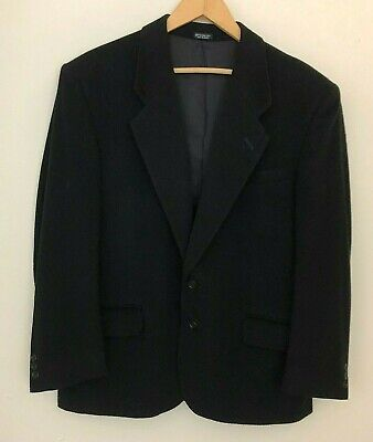 Gianfranco Ruffini Mens 42S Black Cashmere Blend 2 Button Blazer Sport Coat