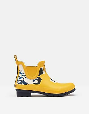 Joules Womens Wellibob Short Height Wellies - MUSTARD FLORAL