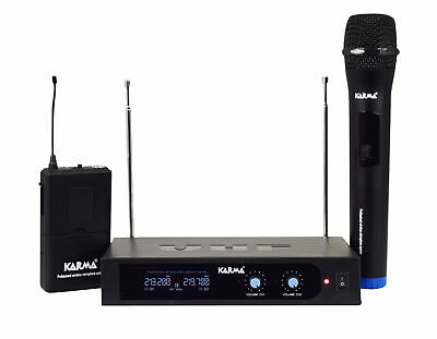 Microphone - Double Wireless Microphone Vhf Handheld + Bow