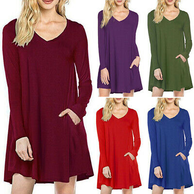 Lace Ourlet Patineuse Femmes Robe Manches Longues Col V Taille Plus Casual