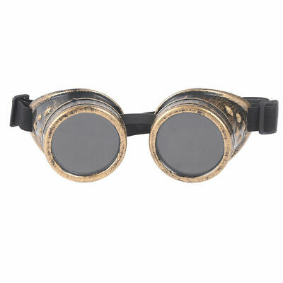 Antique Brass Colour Victorian Steampunk Goggles  Cyber Punk Gothic Cosplay