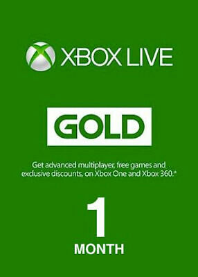 Xbox Live Gold 1 Month Trial (New accounts only)