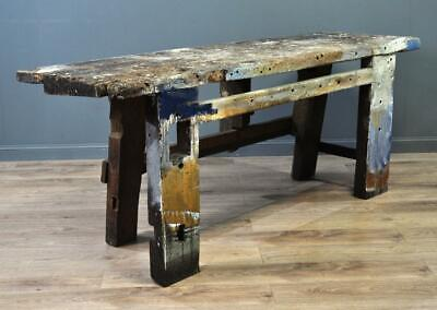 Attractive Large Antique Victorian Pine Rustic Work Bench