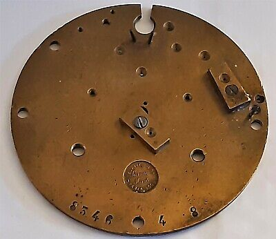 Original 1900's French 'Samuel Marti' Brass Back Plate For A Clock Movement