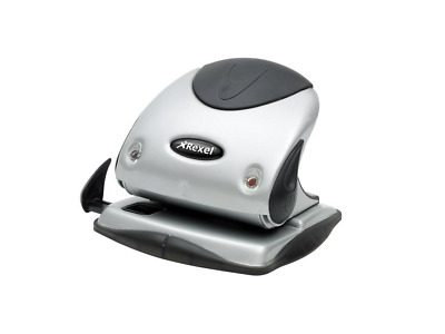 Rexel 2100743 Precision P225 2 Hole Punch Black/Silver 25 Sheet Capacity and