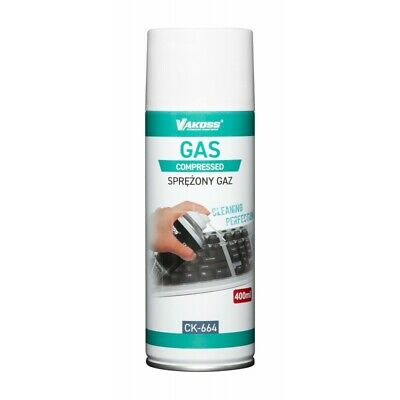 Compressed Air Duster Spray Gas 400ml Dust Blower Easy Clean PC Laptop Keyboard