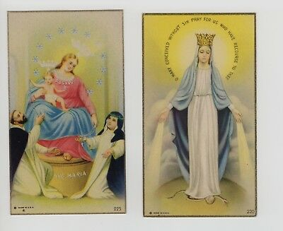 Vintage Catholic Holy Bible Prayer Cards  Lot Of 2  Prayers Jesus  Made in USA