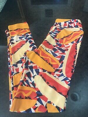 LuLaroe Tween Leggings Americana Hot Dogs NWOT