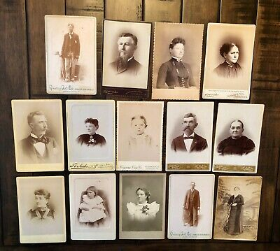 Antique Victorian Cabinet Cards ID'd West Virginia Missouri