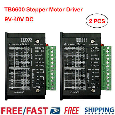 2pcs 9~40V Single Axis Micro-Step CNC Stepper Motor Driver Controller TB6600 UK