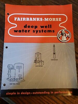 Antique FAIRBANKS MORSE CATALOG Deep Well Water Ststems Rare! Motors list