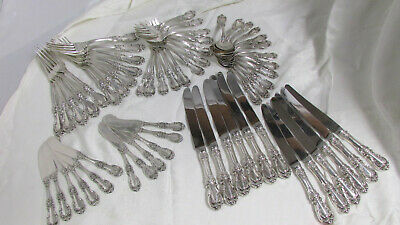 "Reed and Barton ""Burgundy"" Sterling Silver Flatware Set Service For 12 - 60 pcs"