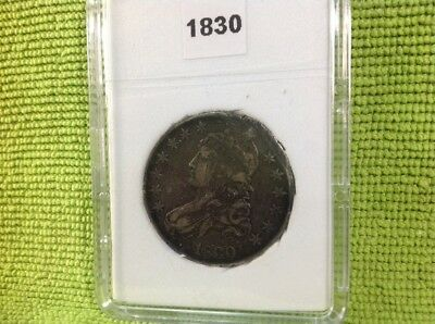 1830 Large O - Capped Bust Half Dollar In Bcw Slab Type Holder