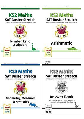 New Cgp Sat Buster Stretch Maths Year 6 Ages 10-11 Geometry Arithmetic Algebra