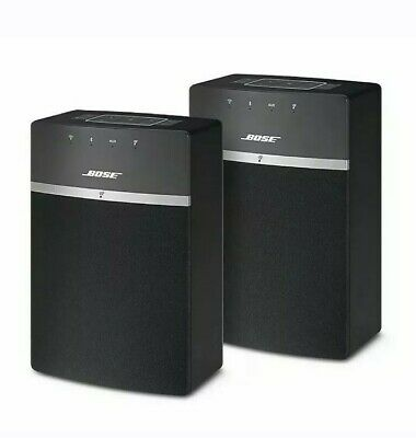 Bose SoundTouch 10 Wireless Speakers 10 x 2 Starter Pack Black 789500-1100 NEW!