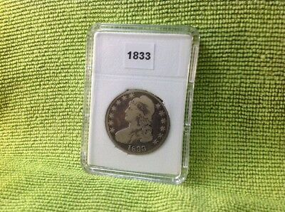 1833 Capped Bust Half Dollar In Bcw Slab Type Holder