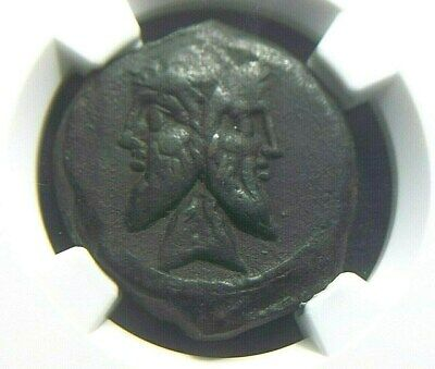 Scarce Roman Republic AE As of Q Titus, 90 BC  NGC Ch VF 7011