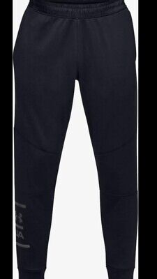 NWT$55 MENS UNDER ARMOUR MK1 TERRY JOGGER PANTS BLACK 1327407