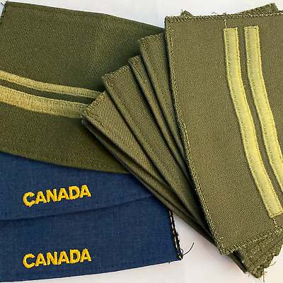 Canadian Armed Forces Soft Cloth Un-cut / Un-Finished Shoulder Slip-on Epaulette