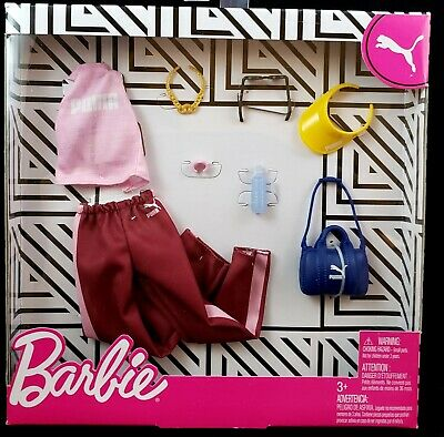 Puma Barbie Fashion Pack Pink/Burgundy TOP & PANTS, VISOR & Accessories - Outfit