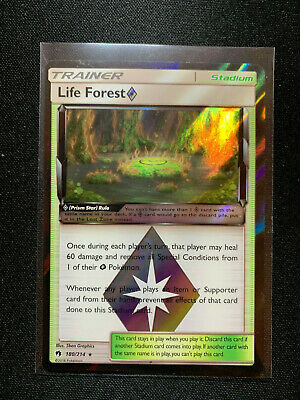 SM8 Lost Thunder 2x Life Forest 180//214 Prism Star Rare NM//M Pokemon