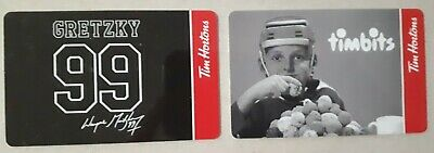 Lot 2 Tim Hortons Gift Cards Wayne Gretzky 99 from 2020