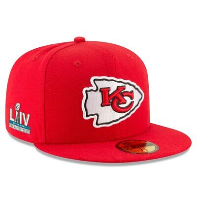 Super Bowl LIV 54 Champions Kansas City Chiefs New Era 59FIFTY Fitted Hat