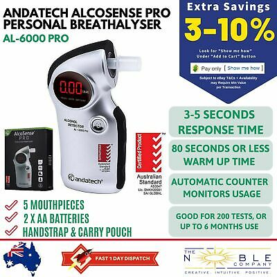 Andatech Alcosense Pro Breathalyser Alcohol Breath Analyser Detector Portable