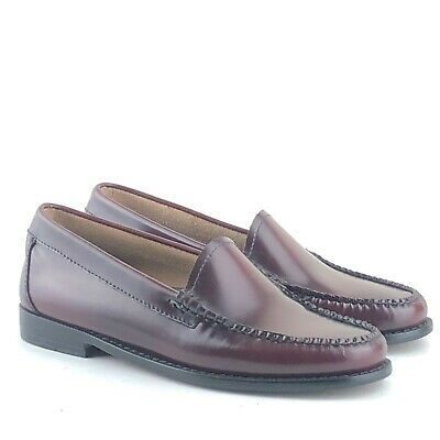 Ladies G H Bass Weejuns Lilian Wine Leather Loafers Size UK 4 | EU 37 | US 6