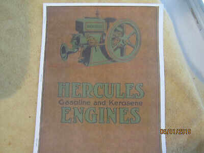 Hercules 1 1/2-12HP Gas Engine Color Information Catalog