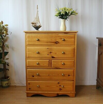 Tallboy Pine Chest Of 6 Drawers