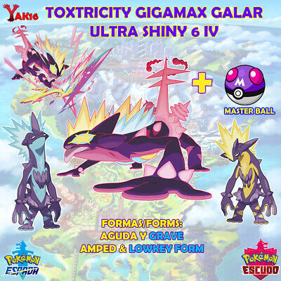 Pack Toxtricity gigamax ultra shiny 6 iv amped lowkey form forma aguda grave mas