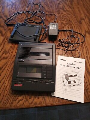 Lanier Voicewriter 210. Transcriber, foot pedal, manual, headphones