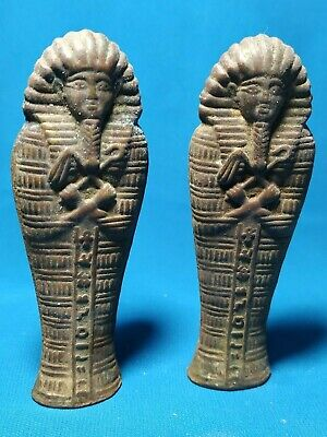 Two pieces...Ushabti Pharaonic copper is very old
