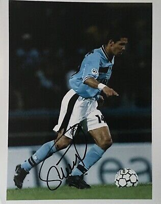 Diego Simeone signed 10x8 Lazio photo UACC AFTAL RACC Trusted dealer Image A