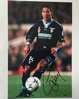 Diego Simeone signed 10x8 Lazio photo UACC AFTAL RACC Trusted dealer Image B