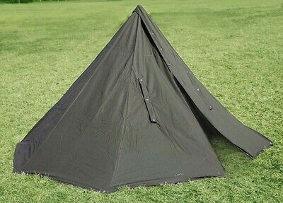 POLISH ARMY NOS MILITARY LAAVU TENT 2 PERSON (2x PONCHO) SHELTER TARP ( Size 3 )