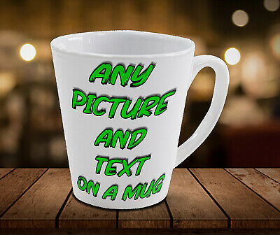 Any Text, Photo, Design On Latte Mug, Cup, Personalised, Girlfriend, Wife, Funny