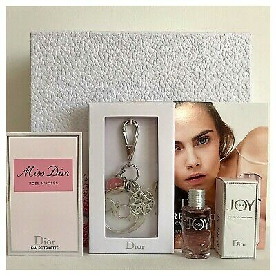 DIOR Set❤Keyring with Charms, Miss Dior Rose N'Roses, Joy Intense, Box❤AUTHENTIC