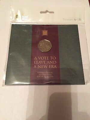 Official UK 2020 Brexit 50p Fifty Pence Coin BU In Royal Mint Sealed Pack