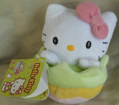 """HELLO KITTY with EASTER EGGS Pillow  /""""All Print/""""  10/"""" x 10/"""""""