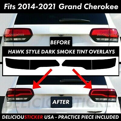 For 2014-2020 Grand Cherokee Tail Light SMOKE Rear PreCut Tint Overlay Vinyl