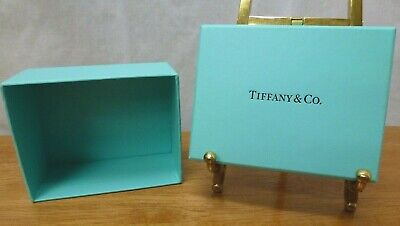 """TIFFANY & CO. Blue Box - 3 1/4"""" x 2 3/4"""" x 1 3/4"""" h with lid on"""