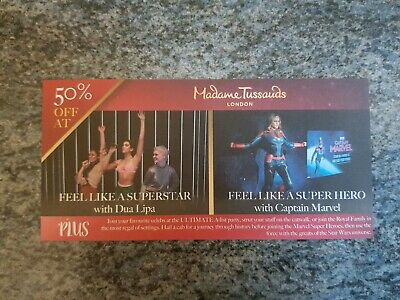 Half Price online London Madame Tussauds Tickets Voucher Coupon 50% Off 4 People